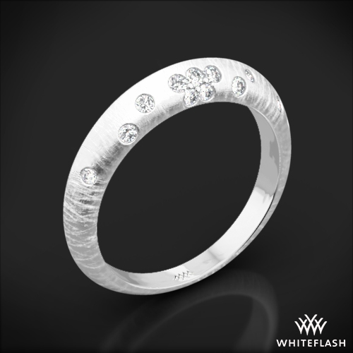 Champagne Reflections Knife-Edge Diamond Wedding Ring