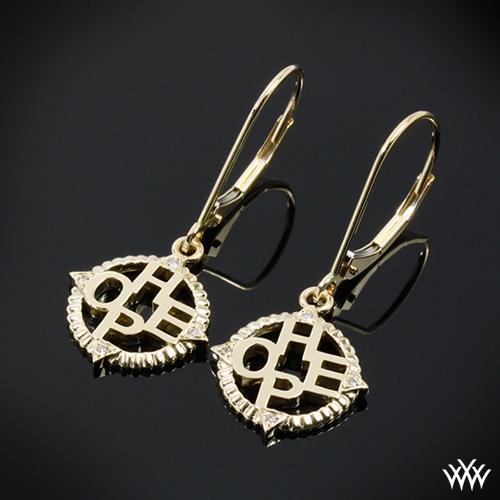 Finding Hope Diamond Charm Earrings