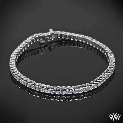 Half-Bezel Diamond Tennis Bracelet