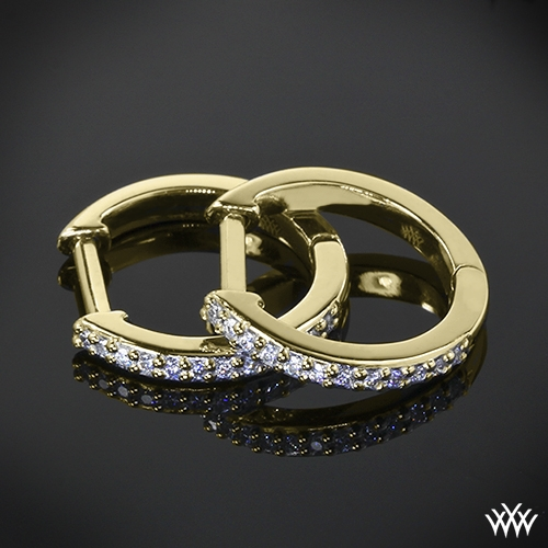 """Huggable"" Diamond Earrings"