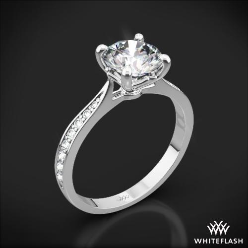 Legato Sleek Line Pave Diamond Engagement Ring