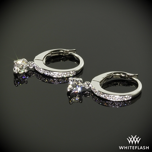 Martini Drop Diamond Earrings