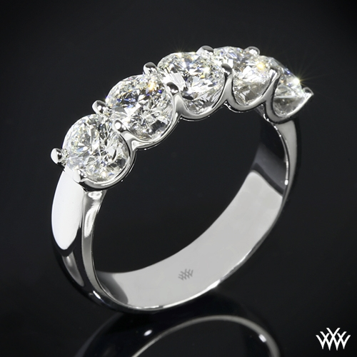 'Skye' Five Stone U-Prong Diamond Right Hand Ring- Setting Only