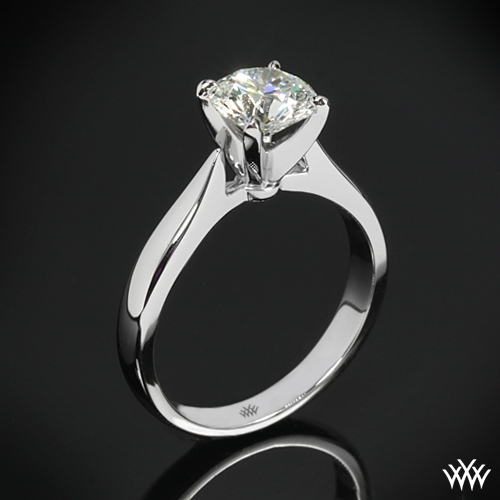 """Sleek Line"" Solitaire Engagement Ring"