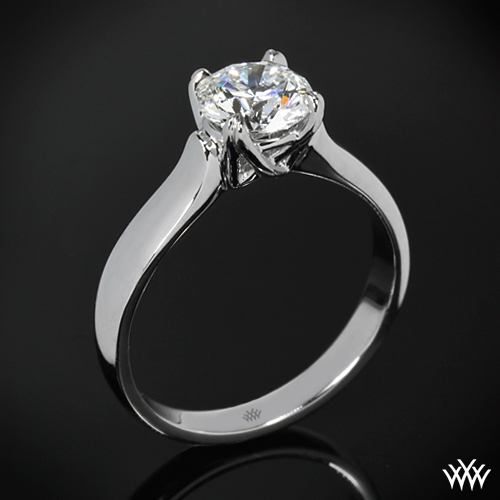 'W-Prong' Solitaire Engagement Ring