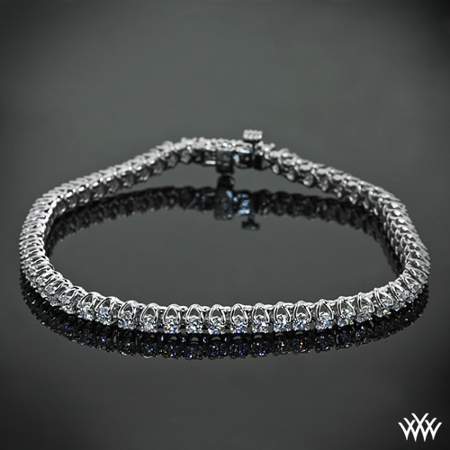 X-Prong Diamond Tennis Bracelet