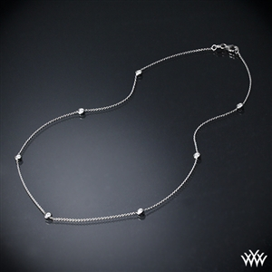 Diamond pendants buy pendant and necklace online at whiteflash whiteflash by the yard diamond necklace aloadofball Images