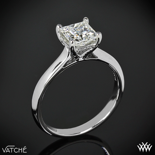 caroline solitaire engagement ring for princess cut diamonds by vatche 342 - Wedding Rings Princess Cut