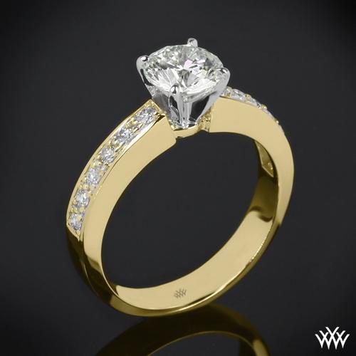 Half Eternity Bead-Set Diamond Engagement Ring