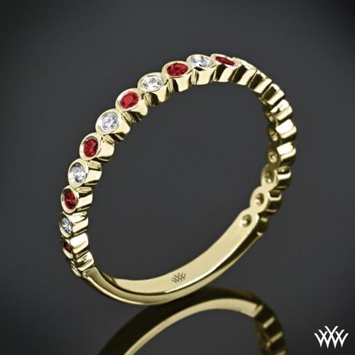 Danielle Jazz Bezel Diamond and Ruby Ring