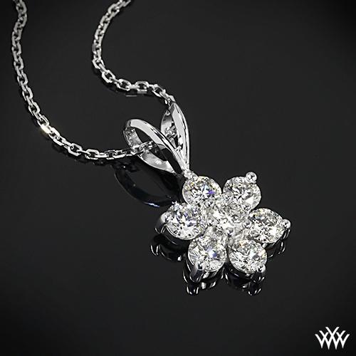 Flower Cluster Diamond Pendant 647