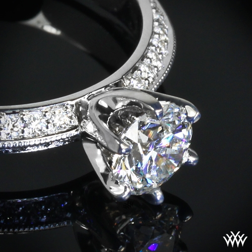 knife edge pave engagement ring 712