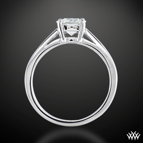 """Rounded Open Cathedral"" Diamond Engagement Ring Ring Ring Side View"