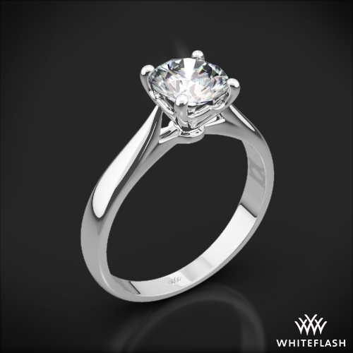 'Legato Sleek Line' Solitaire Engagement Ring