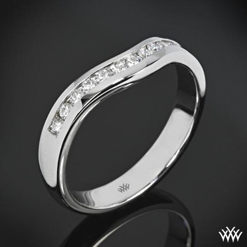 X-Prong Channel Set Diamond Wedding Ring
