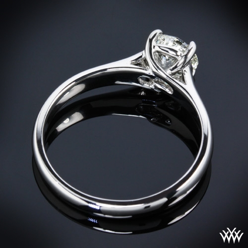 trellis cubic zirconia in over gold white solitaire eternal rings silver p engagement ring plated