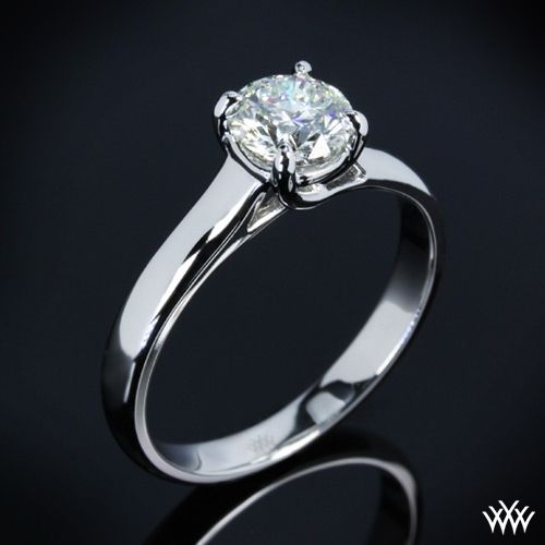 """X-Prong Trellis"" Solitaire Engagement Ring"