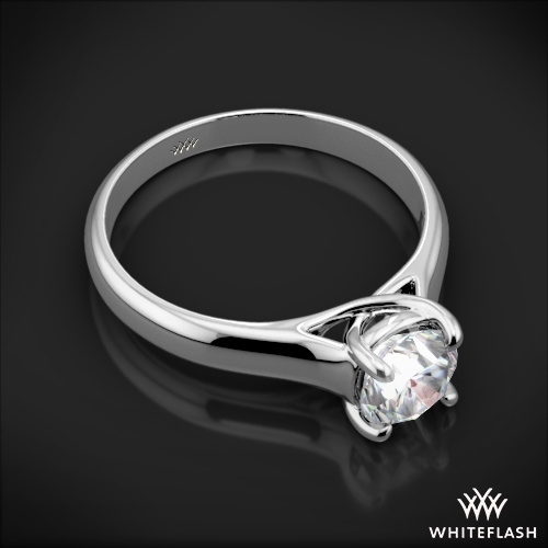 X Prong Trellis Solitaire Engagement Ring 764