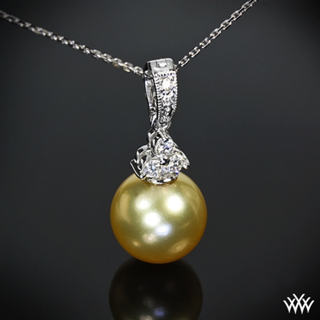 Golden Pearl Diamond Pendant