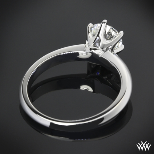 8ad108e80 ... Classic Knife Edge Engagement Ring from Whiteflash 7, Real photo,  Zoomed View, Back View ...