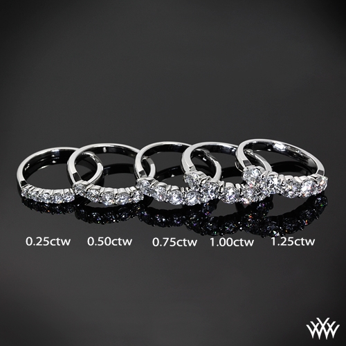 band diamond curved large bands wedding