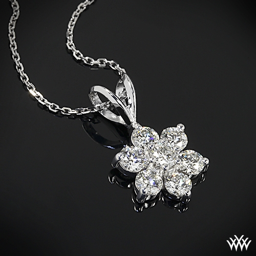 Flower cluster diamond pendant 718 jewelry details recently purchased aloadofball Gallery