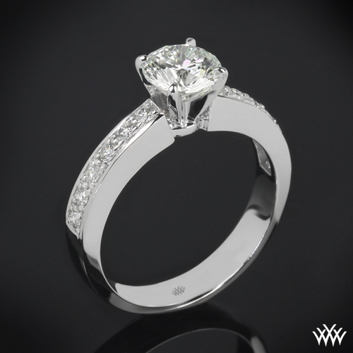 "Half Eternity ""Bead-Set"" Diamond Engagement Ring"