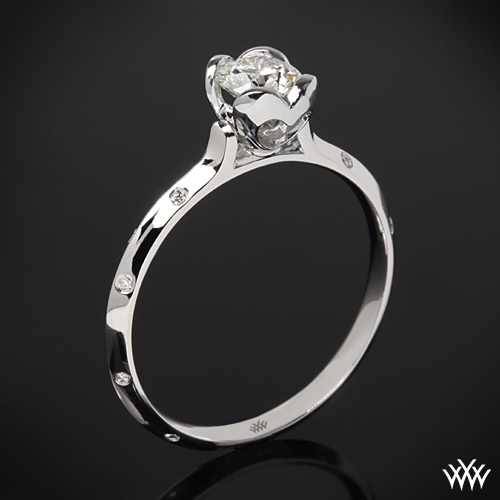"""Corazon Scattered Knife-Edge"" Diamond Engagement Ring"