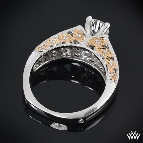 Delicate Blush Diamond Engagement Ring