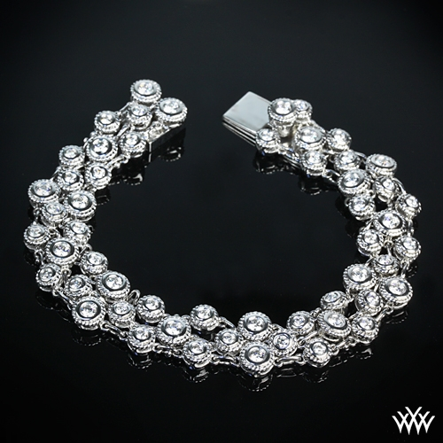 'Enmeshed Diamonds' Diamond Bracelet Collection