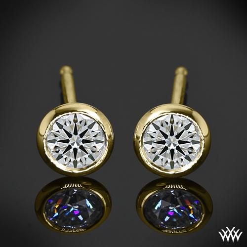 Handmade Full-Bezel Diamond Earrings