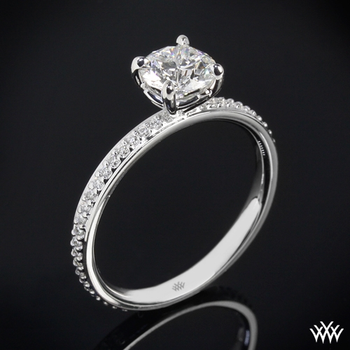 """Legato Micro Pave"" Diamond Engagement Ring"