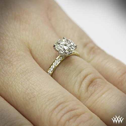 The Legato Micro Pave Diamond Engagement Ring