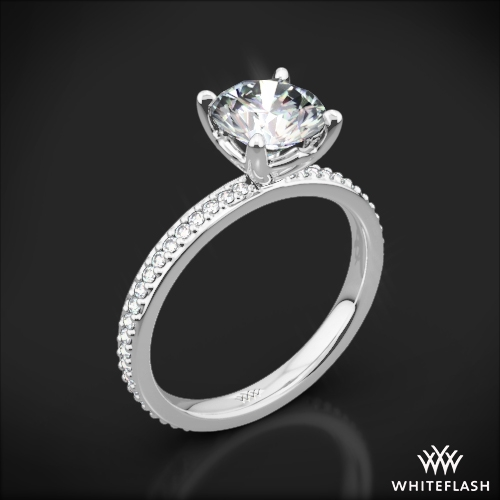 'Legato Micro Pave' Diamond Engagement Ring