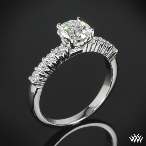 """Legato Shared-Prong"" Diamond Engagement Ring"