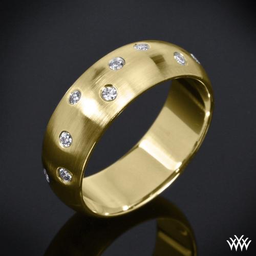 Men's Champagne Diamond Wedding Ring