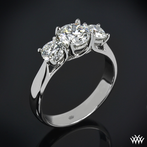 """Trellis"" 3 Stone Engagement Ring"