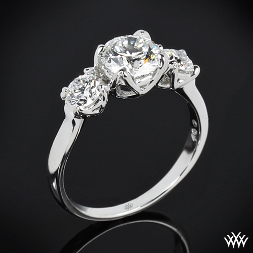 """W-Prong"" 3 Stone Engagement Ring"