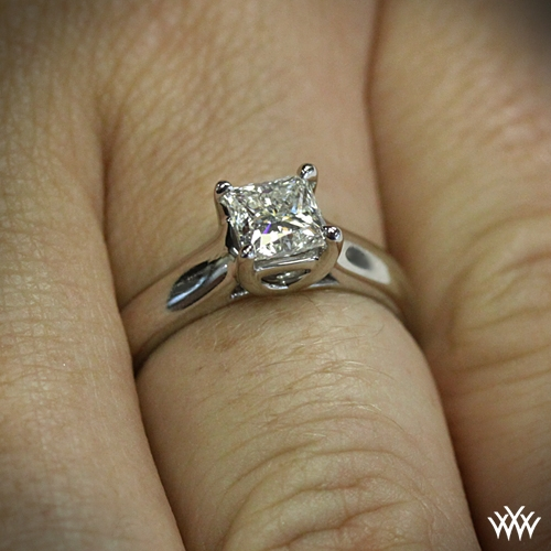 X-Prong Diamond Solitaire For Princess