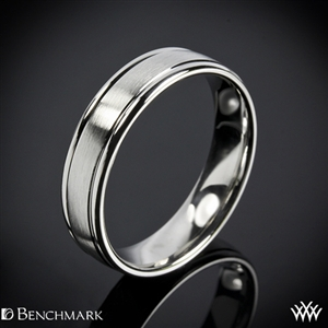 171b9430a Benchmark Comfort Fit Wedding Ring with Spin Satin Finish