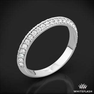 Knife-Edge Pave Diamond Wedding Ring