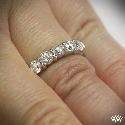 brilliant arranged of with round wide rows ring in diamonds for set all cut diamond gold eternity the band way eternitywedding over yellow rings wedding bands around going full women