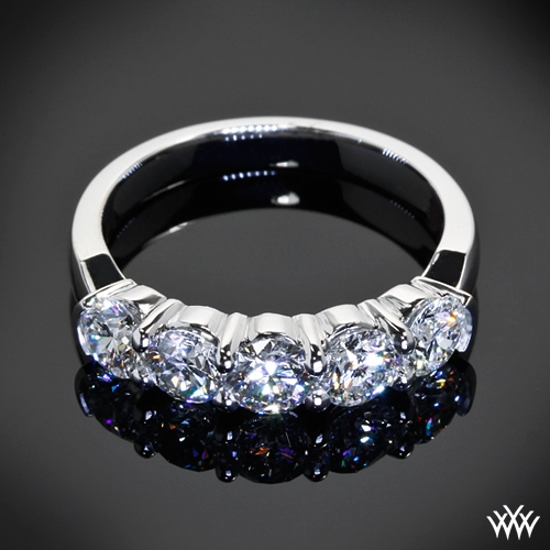 band bands rings stone ring platinum women five in diamond ctw s wedding me shadow