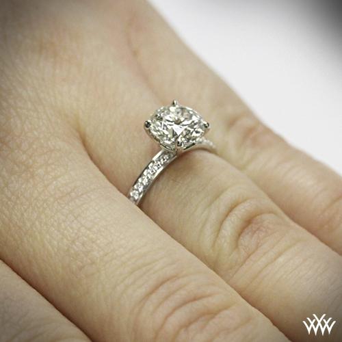 The Legato Micro Pave Diamond Engagement Ring | 1011
