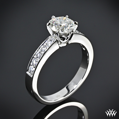 """Bead-Set"" Diamond Engagement Ring"