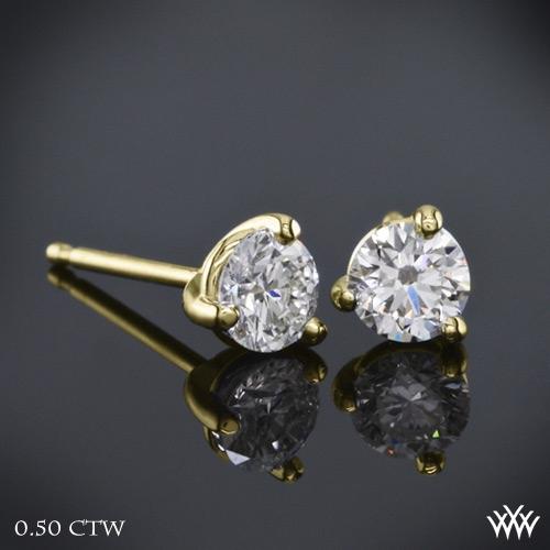 3 prong Martini Diamond Earrings