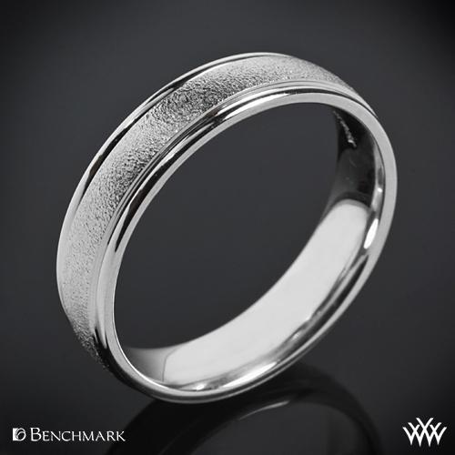 Benchmark Comfort Fit Wedding Ring with Wirebrush Finish