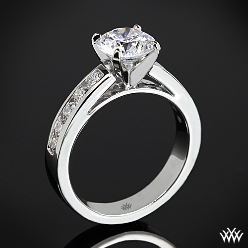 """Cathedral Channel-Set"" Diamond Engagement Ring"