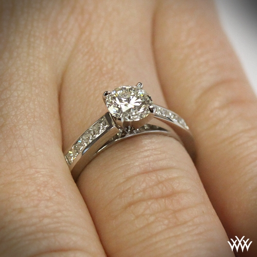 Channel-Set Diamond Engagement Ring
