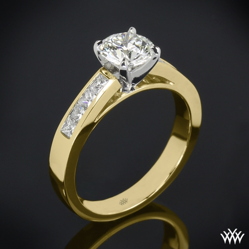 """Princess Channel-Set"" Diamond Engagement Ring"